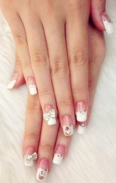 Amazing French nail. But could you really work in them? I know I couldn't. LOL