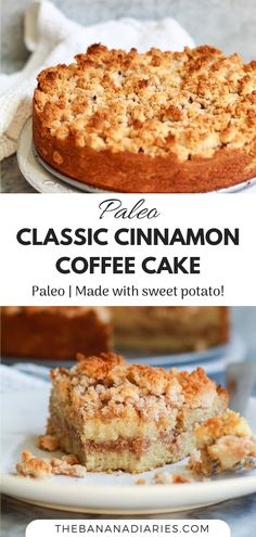 This healthy classic cinnamon coffee cake is completely paleo, gluten free, and nut free! Vegan option as well! It's a healthy twist that tastes just like the traditional cinnamon coffee cake! Paleo Dessert, Dessert Sans Gluten, Paleo Sweets, Gluten Free Desserts, Dessert Recipes, Healthy Treats, Healthy Desserts, Paleo Coffee Cake, Gluten Free Coffee Cake