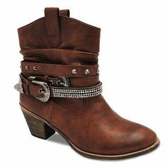 Bucco Metia Studded Cowboy Ankle Booties - Women