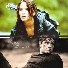"""""""Are you here to finish me off, Sweetheart?"""" I love that Peeta and Haymitch both call her sweetheart. They both love her so much, but it's a real growth for Peeta. To think that before the games he never even talked to her. He may not be a fighter but he's discovering his strength. #TheHungerGames #KatnissEverdeen #PeetaMellark"""
