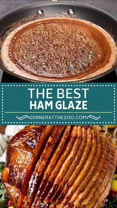 Best Ham Glaze, Glaze For Ham, Ham Glaze Brown Sugar, Amazing Food Videos, Ham Dinner, Honey Baked Ham, Leftover Ham Recipes, Mexican Food Recipes, Holiday Recipes