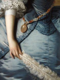 Lady Oxenden - Thomas Hudson 1755 (Détail)