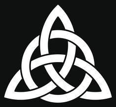 3 point Celtic Triquetra (Trinity) knot interlaced with a circle for your logo, design or project (vector illustration) - stock vector Trinity Knot Tattoo, Celtic Knot Tattoo, Celtic Trinity Knot, Celtic Tattoos, Viking Tattoos, Celtic Knots, Celtic Knot Meanings, Celtic Symbols, Celtic Art