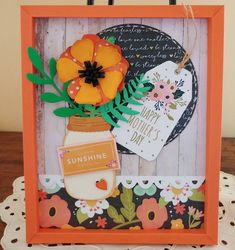 3D paper frame Happy mother's day