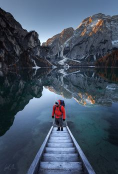 "Break of Day - waiting for sunrise. lago di braies, dolomites, italy.  if you like it, follow me on  <a href=""http://www.facebook.com/guerelsahinpictures"">FACEBOOK</a> <a href=""https://instagram.com/guerelsahinpictures/"">INSTAGRAM</a> <a href=""http://www.guerelsahinpictures.com"">WEBSITE</a> <a href=""http://www.pinterest.com/guerelsahin/"">PINTEREST</a>"