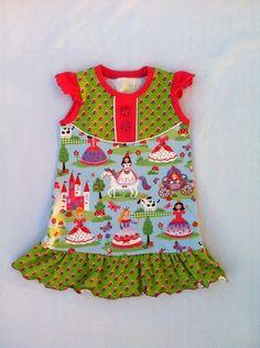 Ärmellosen Kleid, Jersey, Pinzessin, Wunschgröße von kleine Kuschelrobbe auf DaWanda.com