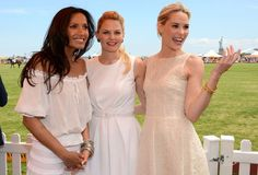 Dressed and Educated: Veuve Clicquot Polo Classic 2012. Leslie Bibb, Padma Lakshmi, and Jennifer Morrison