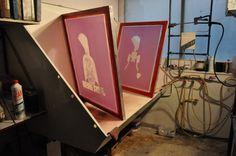 Rufus Dayglo & CCA 2013 / Judge Dredd / screen prints by tind , via Behance