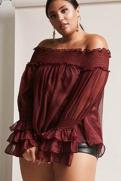 $28 FOREVER 21+ Plus Size 12x12 Ruffled Chiffon Top #plussize #fashionaddict #trends #fashion #trendsetter #affilatelink