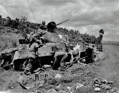 Korean War during U.N Military Tanks Repair Works