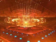 These are the very first photos inside the 2014 Eurovision Song Contest arena!