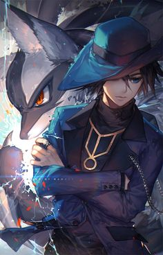 "kawacy: ""Lucario, I choose you. —Riley from Pokemon 