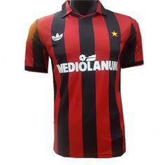 0da6251ac 91-92 AC Milan Retro Home Soccer Jersey Shirt Custom Football Shirts