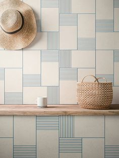 Beautiful graphic wall - Cava Graphic Tile Collection by LucidiPevere for Living Ceramics - Design Milk #furniturecollection