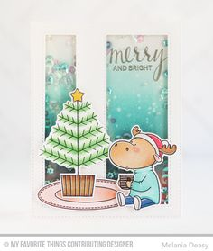 Merry Christmoose, Merry Christmoose Die-namics, Stitched Cover-Up Companion - Horizontal - Melania Deasy #mftstamps