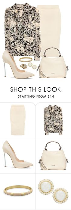 """Navy and Cream"" by sommer-reign ❤ liked on Polyvore featuring Donna Karan, Yves Saint Laurent, Casadei, MICHAEL Michael Kors, BillyTheTree and Lydell NYC"