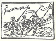 "a 'significant' use of the hobbyhorse motif -- here as an indicator of 'second childhood'/ senility. The banderole from the first boy's windmill-lance is Latin for ""Old men are twice boys"" or ""Old men are boys a second time""] Emblem from Covarrubias's ""Emblemas Morales"" (Madrid, 1610)"