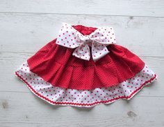 Toddler skirt Red Girls Skirt Toddler Ruffle by naturalbabydresses