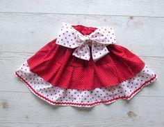 Toddler skirt Red Girls Skirt Toddler Ruffle by naturalbabydresses