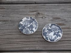 Black and Cream Rose Floral  Print  2 Dresser by ReadinginRags, $4.00