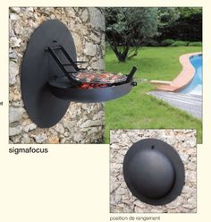 The French company Focus has designed a truly beautiful barbecue grill that folds into the wall: Sigmafocus wall BBQ.