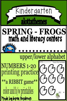 This is a great resource if you need something for practicing printing and cutting skills. A special activity is included to make this an engaging and fun supplement to your spring unit. Number Activities, Number Games, Alphabet Activities, Literacy Activities, Literacy Centers, Subitizing, Numeracy, Name Tracing, Printing Practice