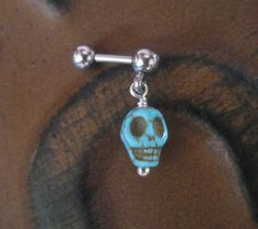 Hey, I found this really awesome Etsy listing at https://www.etsy.com/listing/165015244/tiny-turquoise-skull-cartilage-tragus