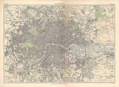 Map of London in 1889