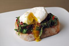 Poached Eggs with Greens and Garlic #EarthDay #food4thought