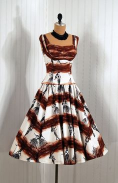 1950's Island print Dress