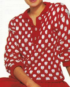 Vintage Knitting Pattern Instructions to Make a Ladies Spotty Jumper Sweater
