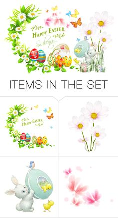"""Happy Easter"" by smilensy ❤ liked on Polyvore featuring art"