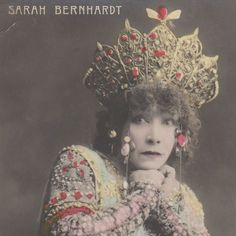 Actress Sarah Bernhardt Original Vintage Photo Postcard