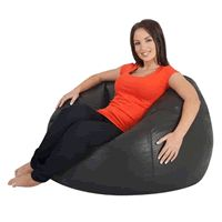 Luxury Faux Leather Top Quality Huge Bean Bag Chair For Big Adults Take A Closer Look