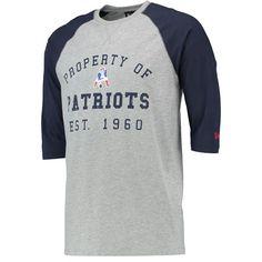 e9c7c1d9c New England Patriots NFL Vintage by New Era Property 3 4 Raglan T-Shirt