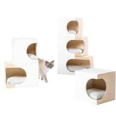 LUNARBOX: A Cat Home That Will Work with the Design of Your Home LUNARBOX is a welcome deviation from the standard cat furniture and trees by turning it into a modern design object for your home. Cat Design, Animal Design, House Design, Dog Furniture, Modern Cat Furniture, Furniture Buyers, Classic Furniture, Cheap Furniture, Furniture Ideas