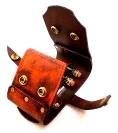 Steampunk Vial Holster - Holds up to 5 Vials of your most potent concoctions - Hangs off of most belts