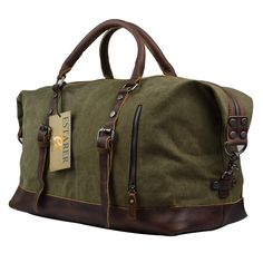 a037de4d782 Estarer Travel Canvas Duffle Carry-on Luggage Large Weekend Overnight Bag  52L  Amazon.