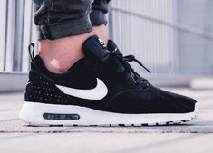 the best attitude 2de19 06d58 New Nike Air Max Tavas LTR in all black suede Nike Tavas, New Nike Shoes