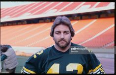Portrait of Dan Kepley, middle linebacker for the Edmonton Eskimos.