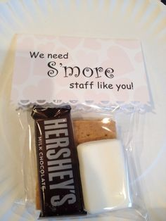 Simple and inexpensive staff employee appreciation gift. DIY thank you gifts.
