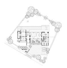Image 26 of 33 from gallery of / ONG&ONG Pte Ltd. Photograph by Derek Swalwell Modern House Plans, Small House Plans, House Floor Plans, Craftsman Floor Plans, Mexico House, Cottage Plan, House Layouts, Architecture Plan, Planer