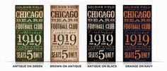 Chicago Bears Football club typography original graphic art on canvas