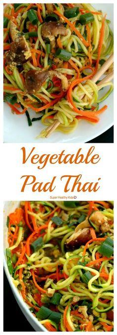 FOOD - Vegetable Pad Thai - a copycat restaurant favorite! http://www.superhealthykids.com/vegetable-pad-thai/