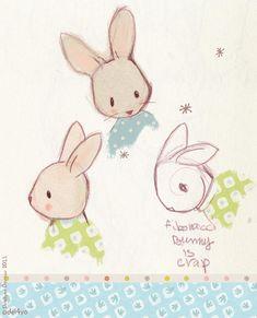 Le lapin dans la lune - Non dairy Diary - Fibonacci bunny is not a goodidea
