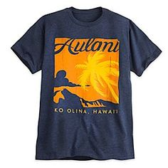 Give yourself a laid-back look on the islands or mainland in this vintage-style souvenir tee from Aulani, A Disney Resort & Spa in Ko Olina, Hawaii.