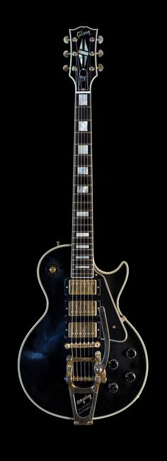 2008 Gibson Les Paul Jimmy Page Custom No. 2 'Ebony' | From a unique collection of photography at https://www.1stdibs.com/art/photography/photography/