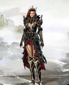 Killer Queen [Reaper] - When Armor Clipping Looks Good! Fantasy Women, Dark Fantasy Art, Fantasy Artwork, Warrior Concept Art, Female Armor, Guild Wars 2, Fantasy Races, Character Design Inspiration, Character Ideas