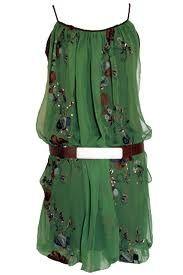 Green silk chiffon tunic dress...LOVE LOVE LOVE!!!