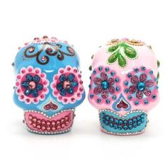 Amazon.com: Wedding Gothic Day of The Dead Cake Toppers A00102 Skull Day of Dead Wedding Skull Lover Cake toppers Ceramic Handmade Dia De Los Muertos: Everything Else
